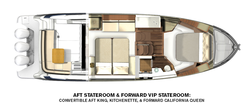 regal 42 fxo interior layout
